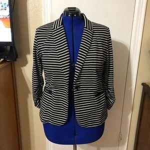 Olivia Moon Jackets & Coats - Olivia Moon Black and White Striped Blazer